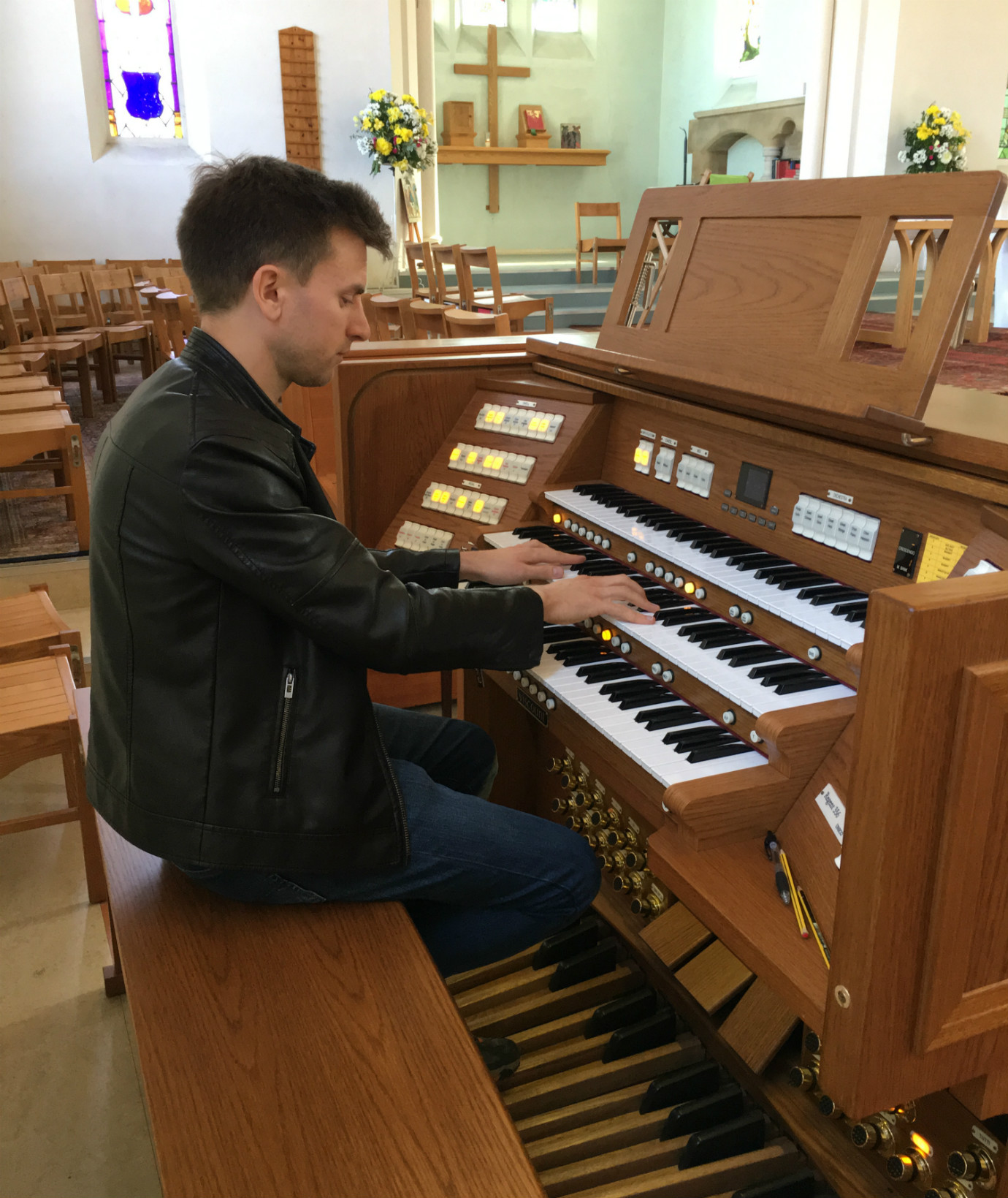 Mark Gatrell at the Organ Console